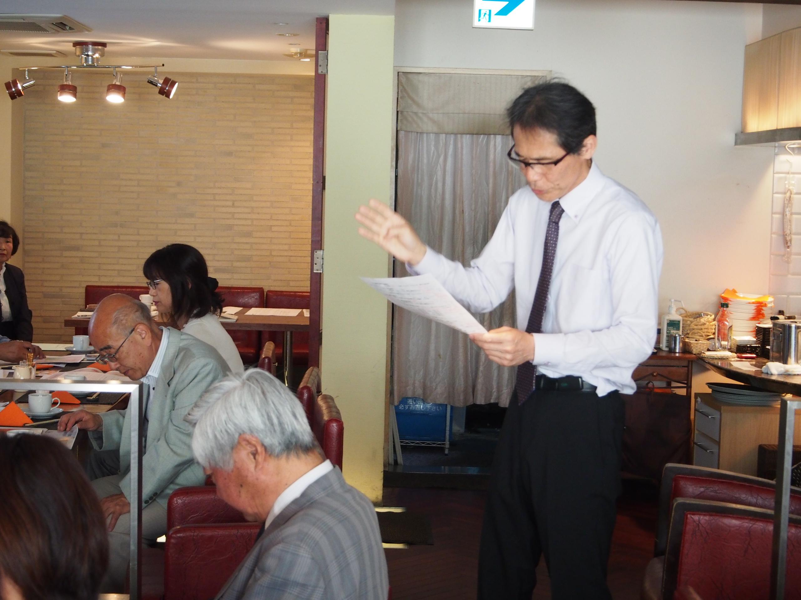 大同生命株式会社の育成部長の東弘人氏(中小企業診断士)による「九転十起の精神とセールスマン教育の実情」